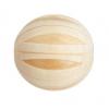 Wood Bead Melon 22mm Natural/Light Brown